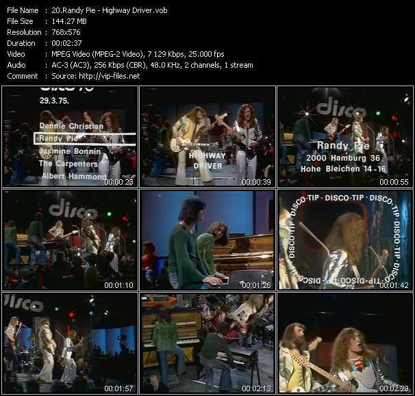 Randy Pie video screenshot