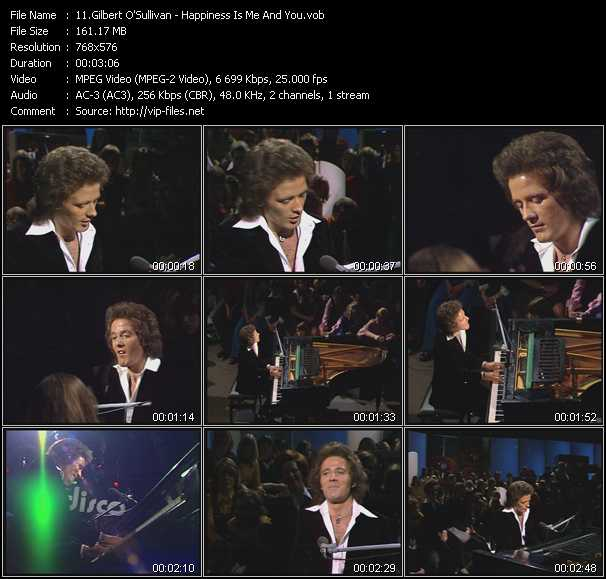 Gilbert O'Sullivan video screenshot
