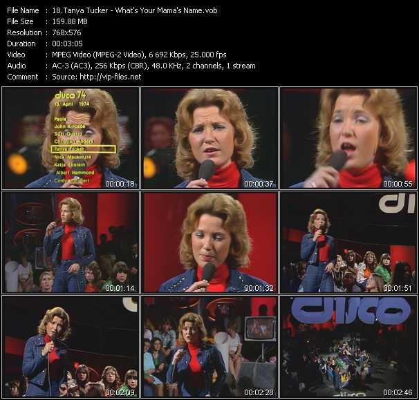 Tanya Tucker video screenshot