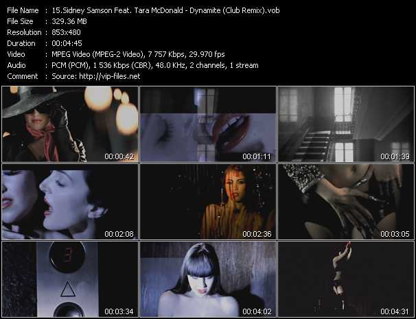 Sidney Samson Feat. Tara McDonald video screenshot