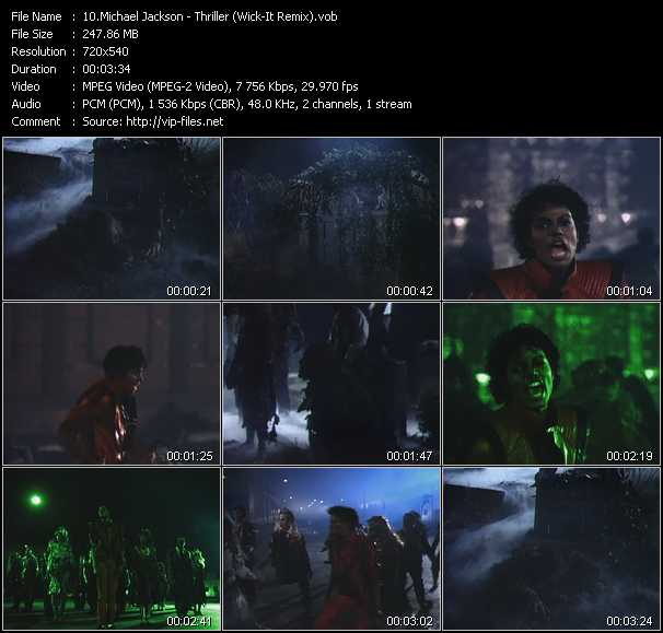 video Thriller (Wick-It Remix) screen