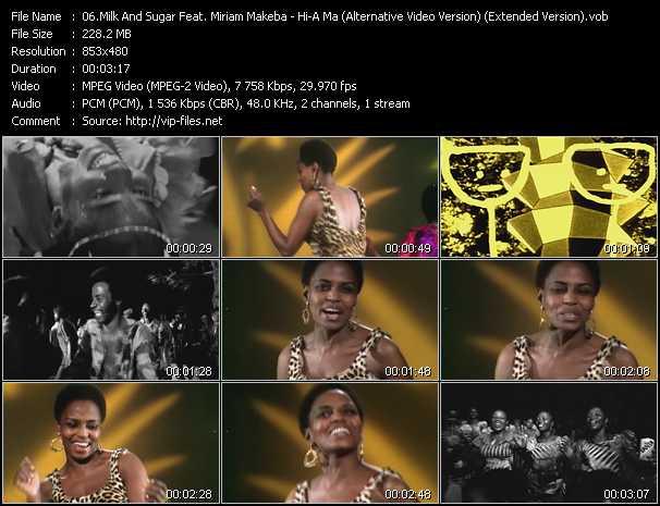 Milk And Sugar Feat. Miriam Makeba video screenshot
