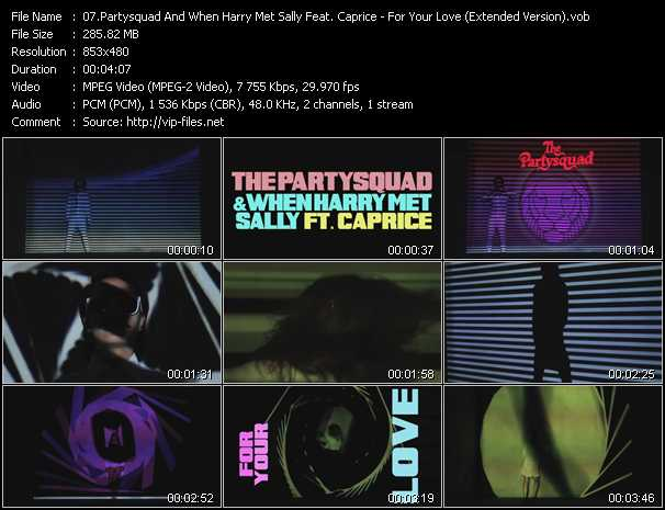 Partysquad And When Harry Met Sally Feat. Caprice video screenshot
