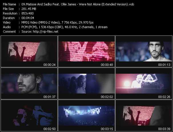 Matisse And Sadko Feat. Ollie James video screenshot