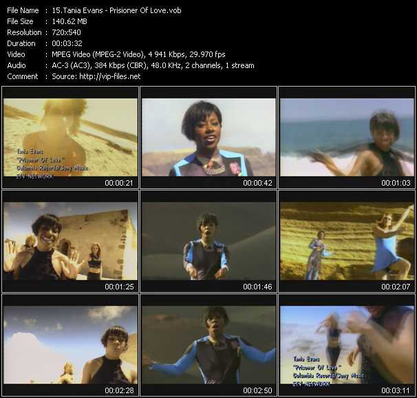 Tania Evans video screenshot