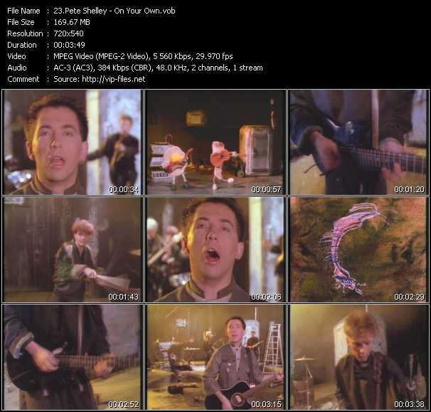 Pete Shelley video screenshot