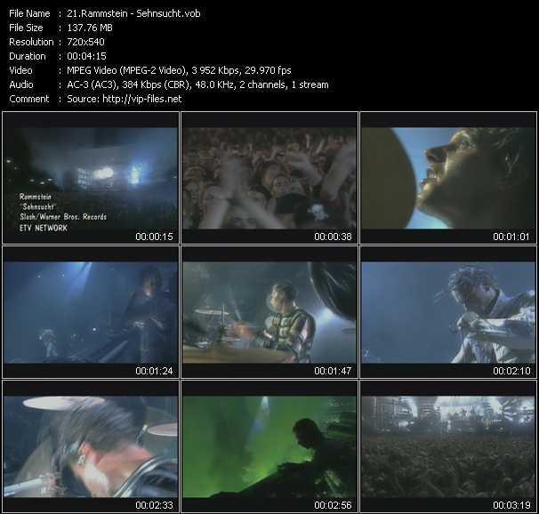 Rammstein video screenshot