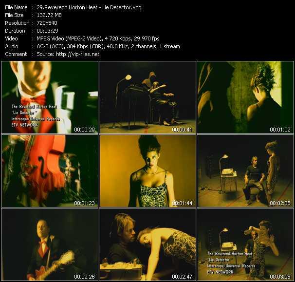Reverend Horton Heat video screenshot