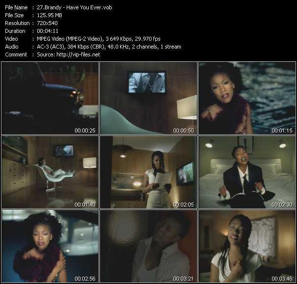 Brandy video screenshot