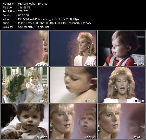 Marti Webb video screenshot