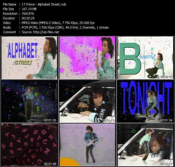video Alphabet Street screen