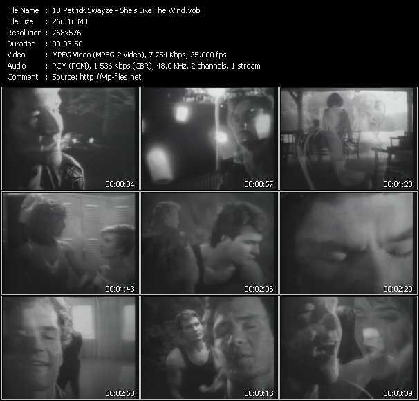 Patrick Swayze video screenshot