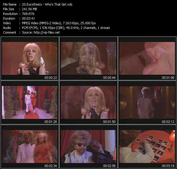 video Who's That Girl screen