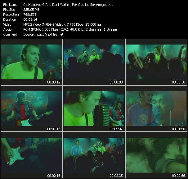 Hombres G And Dani Martin video screenshot