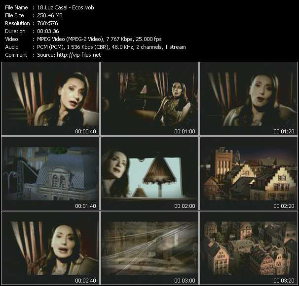 Luz Casal video screenshot