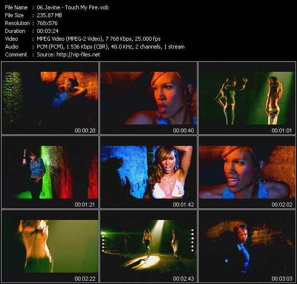 Javine video screenshot