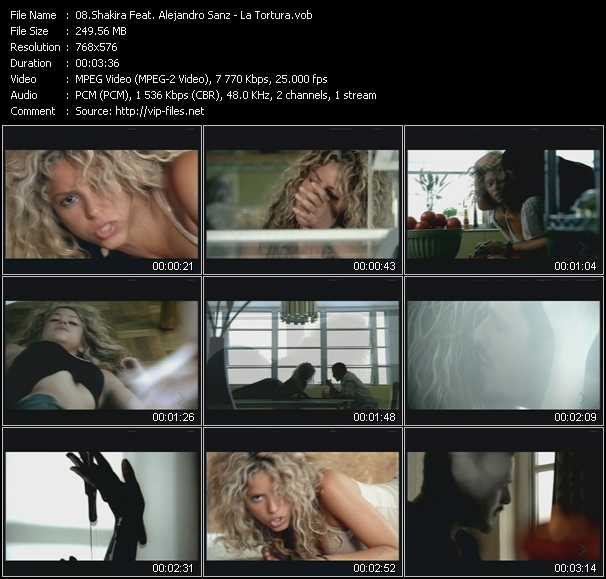 Shakira Feat. Alejandro Sanz video screenshot