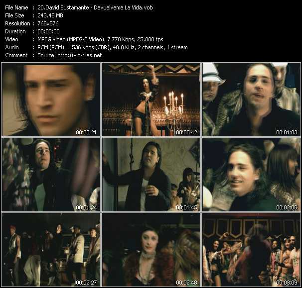 David Bustamante video screenshot
