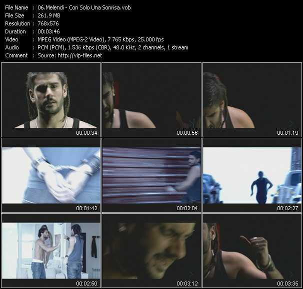 Melendi video screenshot