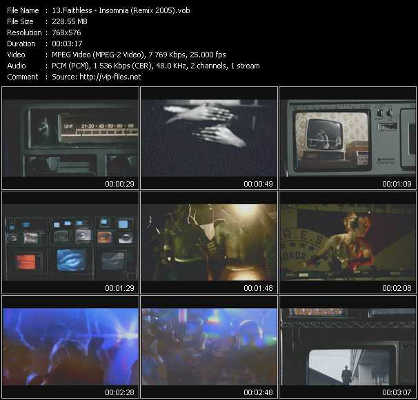 video Insomnia (Remix 2005) screen