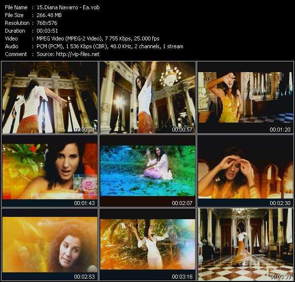 Diana Navarro video screenshot