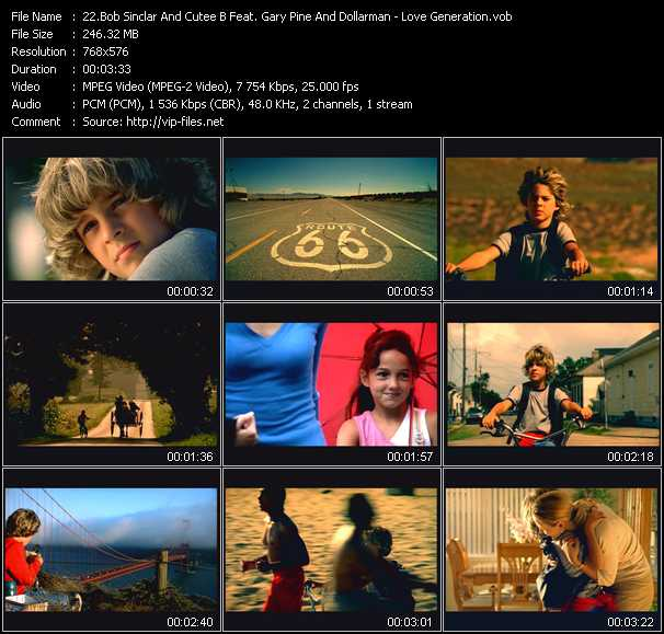 Bob Sinclar And Cutee B Feat. Gary Pine And Dollarman video screenshot