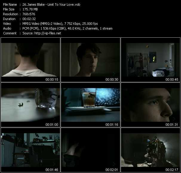 James Blake video screenshot