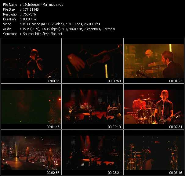 Interpol video screenshot