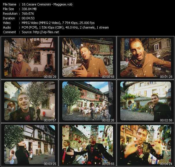 Cesare Cremonini video screenshot