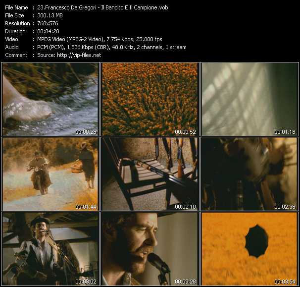 Francesco De Gregori video screenshot