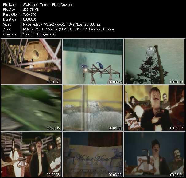 Modest Mouse video screenshot