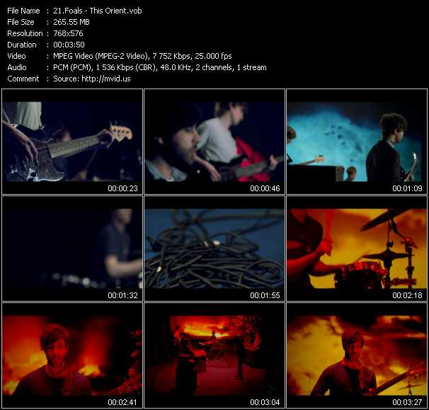 Foals video screenshot