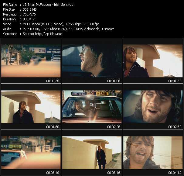 Brian McFadden video screenshot