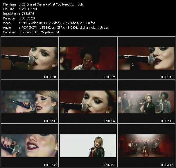 Sinead Quinn video screenshot