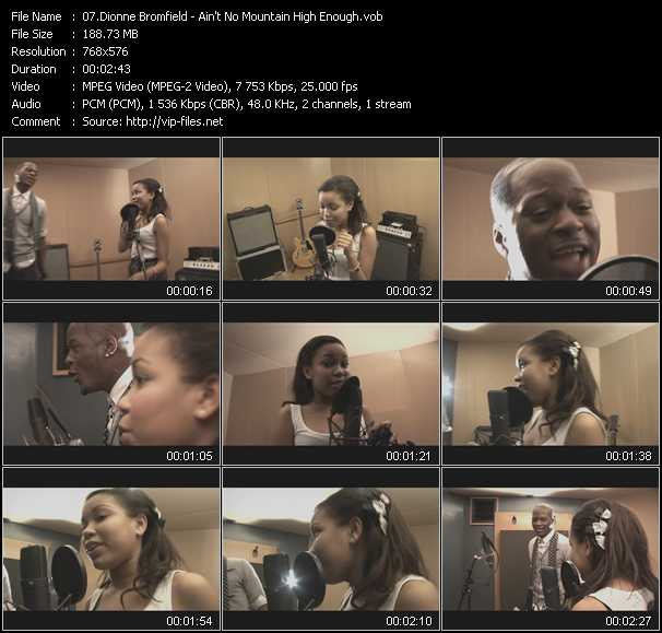 Dionne Bromfield video screenshot