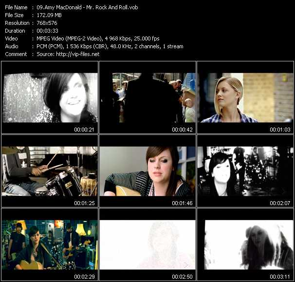 Amy MacDonald video screenshot