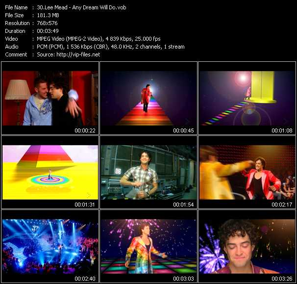 Lee Mead video screenshot