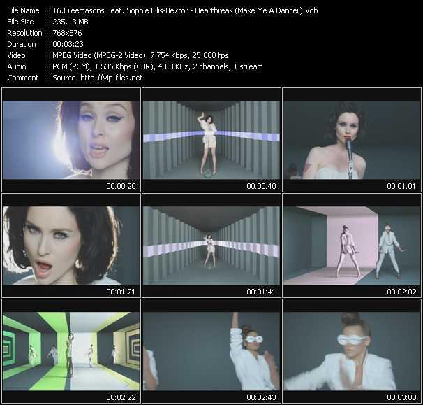 video Heartbreak (Make Me A Dancer) screen