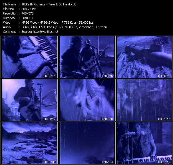 Keith Richards video screenshot