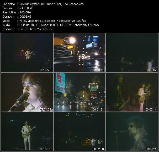 Blue Oyster Cult video screenshot