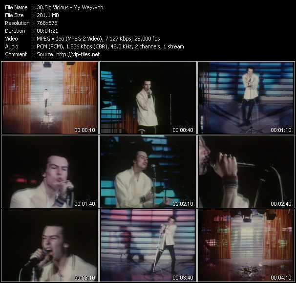 Sid Vicious video screenshot