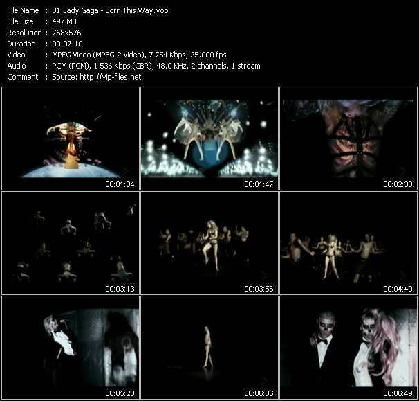 video Born This Way screen