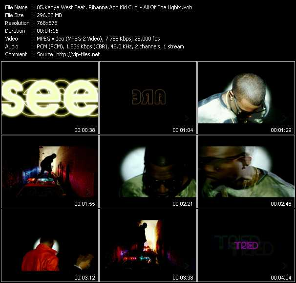 Kanye West Feat. Rihanna And Kid Cudi video screenshot