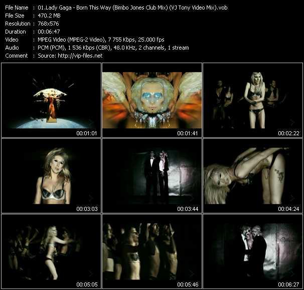 video Born This Way (Bimbo Jones Club Mix) (VJ Tony Video Mix) screen
