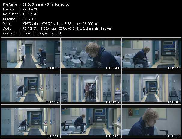 Ed Sheeran video screenshot