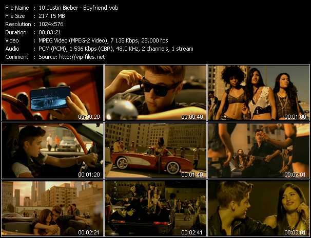 Justin Bieber video screenshot
