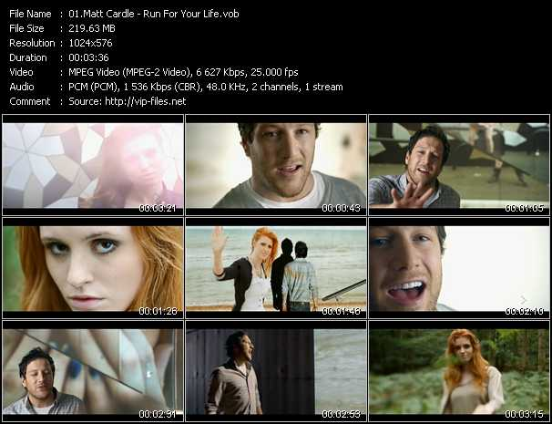 Matt Cardle video screenshot