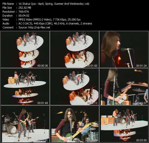 video April, Spring, Summer And Wednesday (From Musikladen) screen