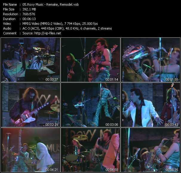 Roxy Music video screenshot