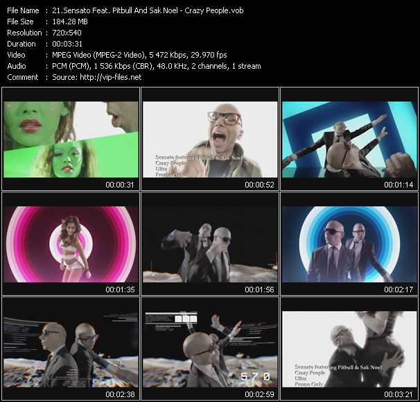 Sensato Feat. Pitbull And Sak Noel video screenshot
